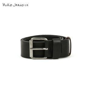 ヌーディージーンズ メンズ Nudie Jeans 正規販売店 ベルト JOHANNESSON BELT BLACK B0|i-mixon