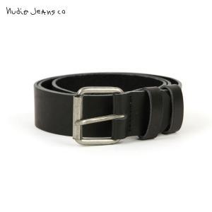 ヌーディージーンズ Nudie Jeans 正規販売店 メンズ ベルト PEDERSSON LEATHER BELT BLACK B01 180747|i-mixon