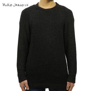 ヌーディージーンズ Nudie Jeans 正規販売店 メンズ クルーネック セーター HANS CREW NECK KNIT BLACK/INDIGO B88 150328 6005 i-mixon