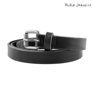 ヌーディージーンズ Nudie Jeans 正規販売店 メンズ ベルト DANSSON SLIM LEATHER BELT BLACK B01 180562|i-mixon