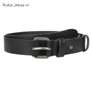 ヌーディージーンズ Nudie Jeans 正規販売店 メンズ ベルト WAYNE LEATHER BELT BLACK B01 180640|i-mixon