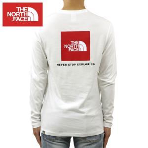 ノースフェイス ロンT メンズ 正規品 THE NORTH FACE 長袖Tシャツ バックプリント ロゴTシャツ LONG SLEEVE RED BOX TEE NF0A493L TNF WHITE i-mixon