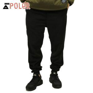 ポーラー ジョガーパンツ メンズ 正規販売店 POLER ボトムス SNUG FLEECE PANT 21450003-BLK BLACK|i-mixon