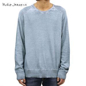 ヌーディージーンズ セーター メンズ 正規販売店 Nudie Jeans クルーネックセーター HANS STRUCTURE KNIT SWEATER C29 150347 BLUE METAL i-mixon