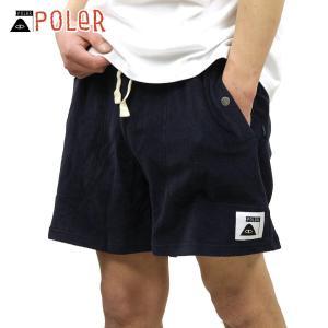 ポーラー ショートパンツ メンズ 正規販売店 POLER ハーフパンツ ボトムス RELAX PILE SHORTS 55100112-NVY NAVY|i-mixon