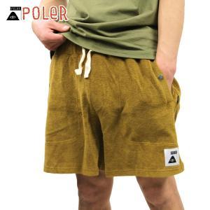 ポーラー ショートパンツ メンズ 正規販売店 POLER ハーフパンツ ボトムス RELAX PILE SHORTS 55100112-BEG BEIGE|i-mixon