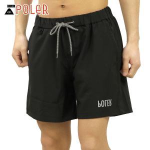 ポーラー ショートパンツ メンズ 正規販売店 POLER ハーフパンツ ボトムス RELOP DRY CLIMBING SHORTS 55100119-BLK BLACK|i-mixon