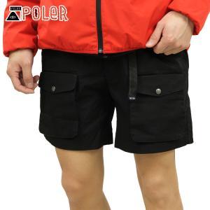 ポーラー ショートパンツ メンズ 正規販売店 POLER ハーフパンツ ボトムス MOUNTAIN CLIMBING SHORTS 5510134-BLK BLACK|i-mixon