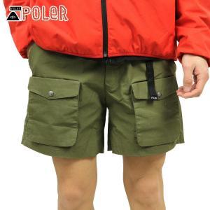 ポーラー ショートパンツ メンズ 正規販売店 POLER ハーフパンツ ボトムス MOUNTAIN CLIMBING SHORTS 5510134-OLV OLIVE|i-mixon