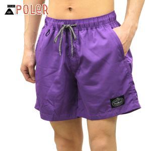 ポーラー ショートパンツ メンズ 正規販売店 POLER 2WAY 水着 ハーフパンツ スイムパンツ ボトムス POLER 2WAY BAGGY SHORTS 55100138-DPP DARK PURPLE|i-mixon