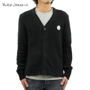 ヌーディージーンズ カーディガン メンズ 正規販売店 Nudie Jeans カーディガン PIM NJCO CIRCLE KINT CARDIGAN BLACK B01 150443 i-mixon