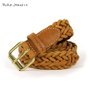 ヌーディージーンズ ベルト メンズ 正規販売店 Nudie Jeans レザーベルト 本革 BRETT BELT LEATHER BELT COGNAC B18 180915|i-mixon