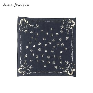 ヌーディージーンズ バンダナ メンズ レディース 正規販売店 Nudie Jeans スカーフ NUDIE JEANS BANDANA BLUE P16 180972|i-mixon