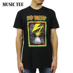 ミュージックティ バンドTシャツ メンズ 正規品 MUSIC TEE ロックTシャツ 半袖Tシャツ バッドブレインズ BAD DRAINS DISTRESSED CAPITOL MUSIC TEE i-mixon