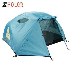 ポーラー テント 正規販売店 POLER アウトドア 二人用テント ドーム型テント 2 MAN TENT POWDER BLUE 212EQU5201-PDB|i-mixon