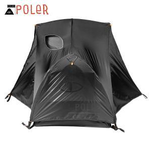 ポーラー テント 正規販売店 POLER アウトドア 二人用テント ドーム型テント 1 MAN TENT BLACK HOLE 213EQU5202-BLH i-mixon