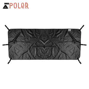 ポーラー アウトドア 正規販売店 POLER シート レジャーシート 1 MAN MAGICAL GROUND TENT SHEET FOOTPRINT BLACK 213EQN5301-BLK i-mixon