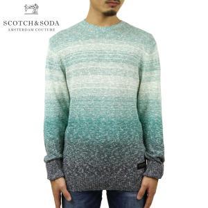 スコッチアンドソーダ セーター メンズ 正規販売店 SCOTCH&SODA ニット クルーネック セーター RECYCLED COTTON-BLEND CREWNECK 162399 0217 45404 69 i-mixon