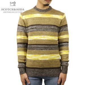 予約商品 10月頃入荷予定 スコッチアンドソーダ セーター メンズ 正規販売店 SCOTCH&SODA ニット セーター ボーダー柄 PULLOVER SWEATER 164013 0218 45414 39 i-mixon