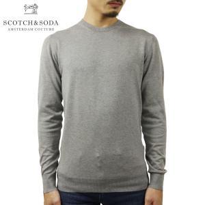スコッチアンドソーダ セーター メンズ 正規販売店 SCOTCH&SODA ニット クルーネック セーター CREWNECK JUMPER SWEATER 160449 0606 GREY MELANGE i-mixon