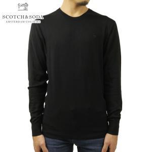 スコッチアンドソーダ セーター メンズ 正規販売店 SCOTCH&SODA ニット クルーネック セーター CREWNECK JUMPER SWEATER 160449 0008 BLACK i-mixon