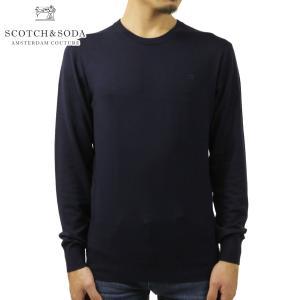 スコッチアンドソーダ セーター メンズ 正規販売店 SCOTCH&SODA ニット クルーネック セーター CREWNECK JUMPER SWEATER 160449 0002 NIGHT i-mixon