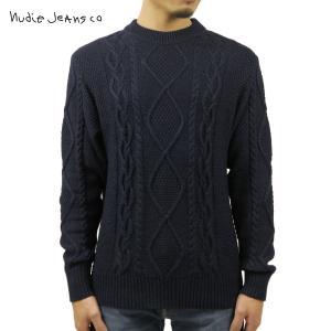 予約商品 10月頃入荷予定 ヌーディージーンズ セーター メンズ 正規販売店 Nudie Jeans ケーブル編みニット DIDRIK BRAIDED CABLE KNIT SWEATER B21 150488 i-mixon