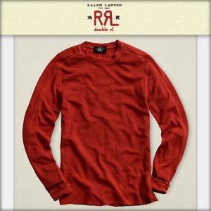 30%OFF アウトレット品 ダブルアールエル RRL 正規品 メンズ 長袖Tシャツ L/S レッド|i-mixon