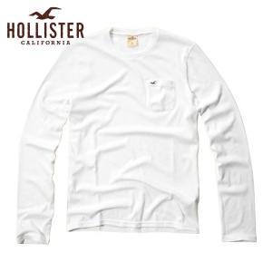 30%OFF アウトレット品 ホリスター HOLLISTER 正規品 メンズ 長袖Tシャツ  White Point T-Shirt 324-369-0636-001|i-mixon