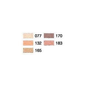 人物の表現に最適な明るめの肌色系刺しゅう糸セットです。  【カラー品番】077/132/165/17...