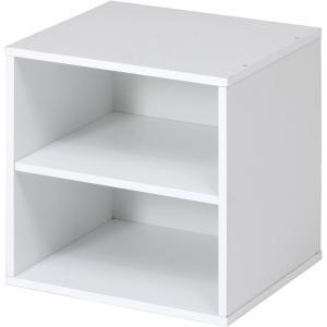 キューブボックス 棚付 ホワイト CB35SH(WH) 不二貿易