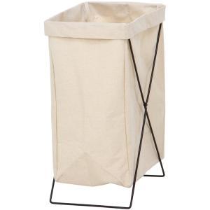ランドリーバスケット 洗濯かご マルチ収納ボックス 幅24cm アイボリー 折りたたみ 持ち運び可能...