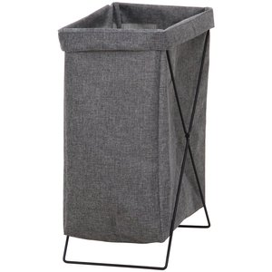 ランドリーバスケット 洗濯かご 幅24cm グレー 縦型 折りたたみ 内側撥水加工 31510 マル...