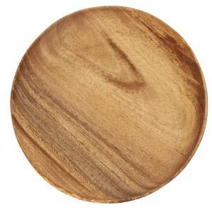 ラウンドトレー XLサイズ 幅25.4cm ブラウン アカシア 天然木 割れにくい 軽量 木製 食器...