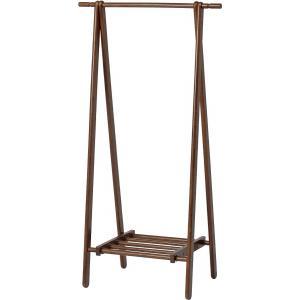 木製 ハンガー ブラウン 6110-6-80(KI) ハンガーラック コートハンガー 89251