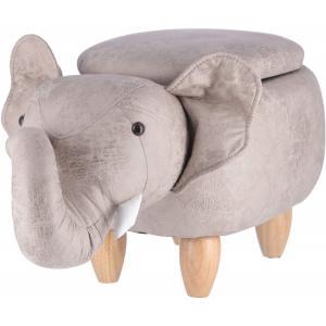 (Fujiboeki) スツール ゾウ 幅70cm アニマル 収納付き 34926