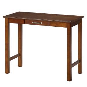 デスク 幅90cm ミディアムブラウン 木製 マンチェスター 95784