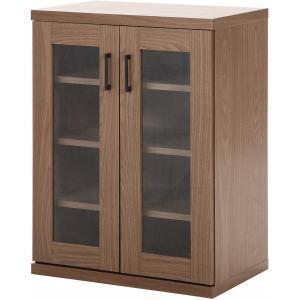 キャビネット リビング収納 ラルゴ 幅60cm ブラウン 食器棚 95504