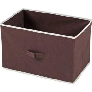 不織布製 インナーボックス 横型 ブラウン HH-YOKO-BR 78442
