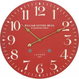 掛け時計 直径60cm レッド レトロ風 LONDON 23681【メーカー直送品】