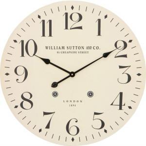 掛け時計 直径60cm アイボリー レトロ風 LONDON 72720【メーカー直送品】