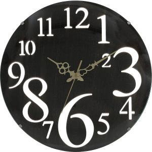 掛け時計 直径32cm ブラウン レトロ 56921【メーカー直送品】