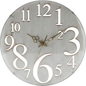 掛け時計 直径32cm レトロ ホワイト 56920【メーカー直送品】