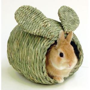 川井 KAWAI わらっこ倶楽部 うさぎハウスS 送料無料 うさぎ ハウス モルモット チンチラ チモシー 牧草|i-rabbit