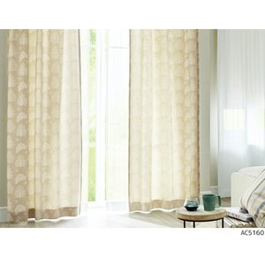 サンゲツ オーダーカーテン AC5160〜AC5161 巾100×丈181〜200cm(2枚入) LP縫製仕様(形態安定加工) 約2倍 3つ山ヒダ i-read