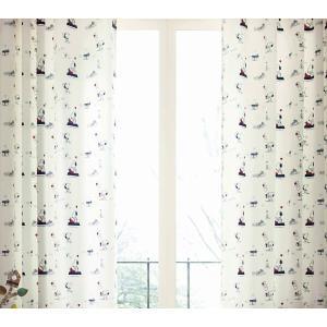 スヌーピー(サンゲツ) カーテン AC6136 巾100×丈...