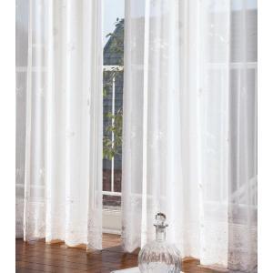 レギュラー縫製 カーテン リリカラ プレーンシェード 3ツ山仕様 SALA LACE LS-61508 約2倍ヒダ