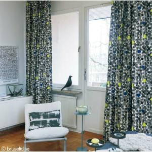 サンゲツ(マリールイス・ヘルグレン/スウェーデン)北欧デザイナーズカーテン SC3282 巾150×丈81〜100cm(2枚入) SS縫製仕様 約1.5倍 2つ山ヒダ|i-read