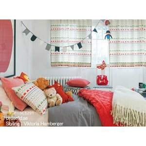 サンゲツ(ジェニー・ヴァルマルク/スウェーデン)北欧デザイナーズカーテン SC3291〜SC3292 巾100×丈121〜140cm(2枚入) SS仕様 約1.5倍 2つ山ヒダ|i-read