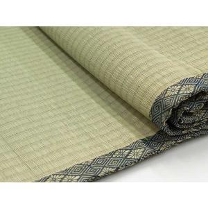 上敷き い草カーペット 8畳 糸引織 日本製 梅クラス 「湯沢(ゆざわ)」 六一間 8畳(約370×370cm) いぐさ ござ 井草 ゴザ|i-s